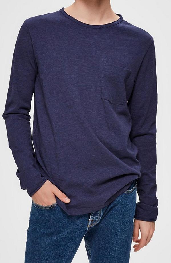 Pánské triko s dlouhým rukávem Selected (Tričko s dlouhým rukávem značky Selected )