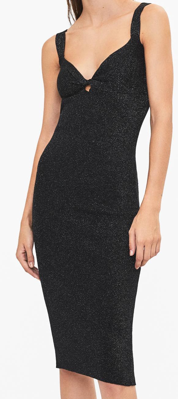 Bershka dámské večerní šaty (Černé šaty na ramínka značky Bershka)