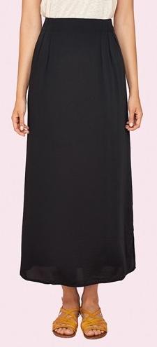 Dámská černá dlouhá sukně (Dlouhá dámská sukně Surkana )