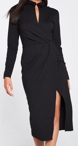 Dámské černé šaty (Luxusní dámské šaty v černé barvě )