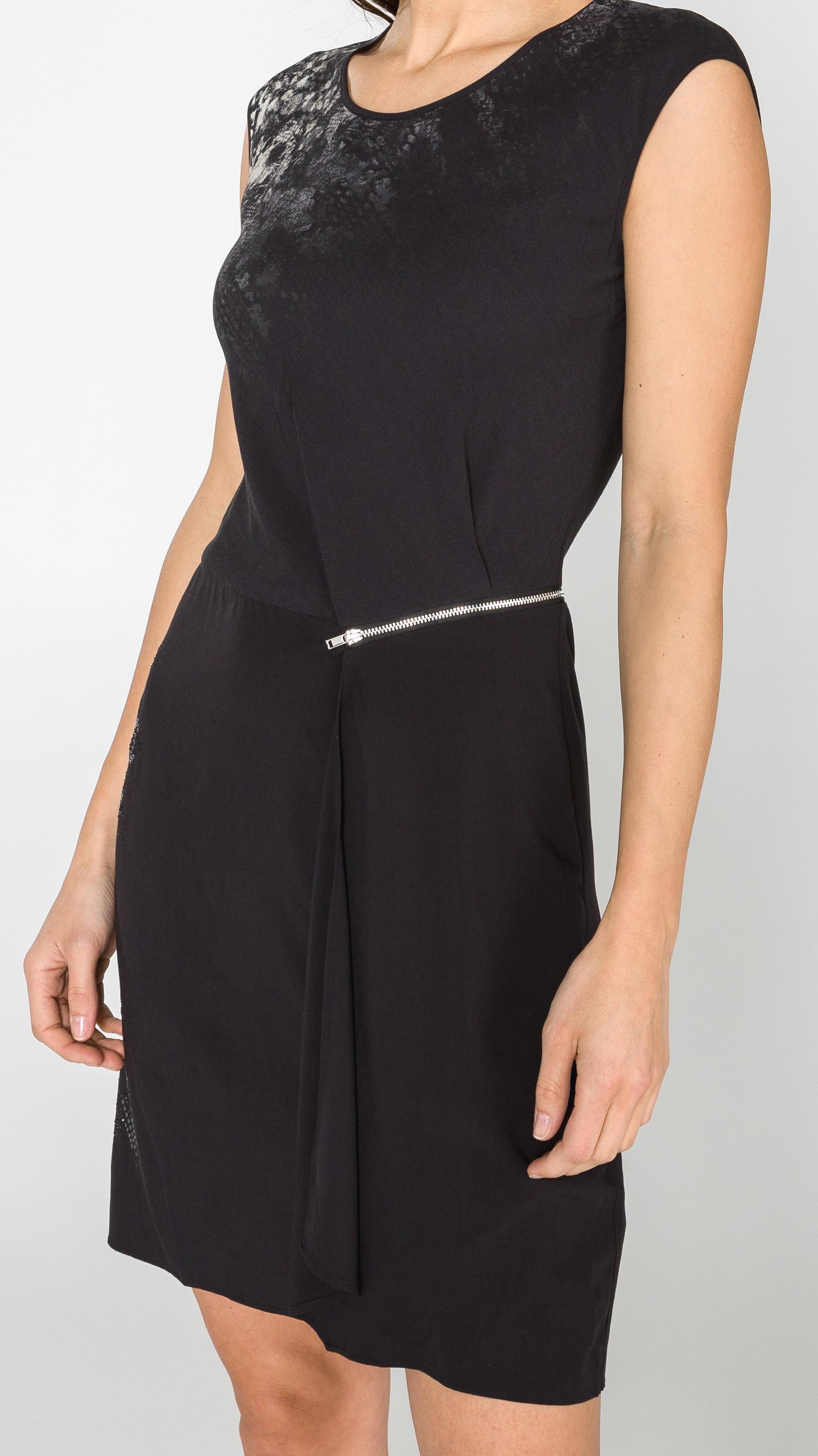 Dámské černé luxusní šaty (Stylové dámské Desigual šaty bez rukávů)
